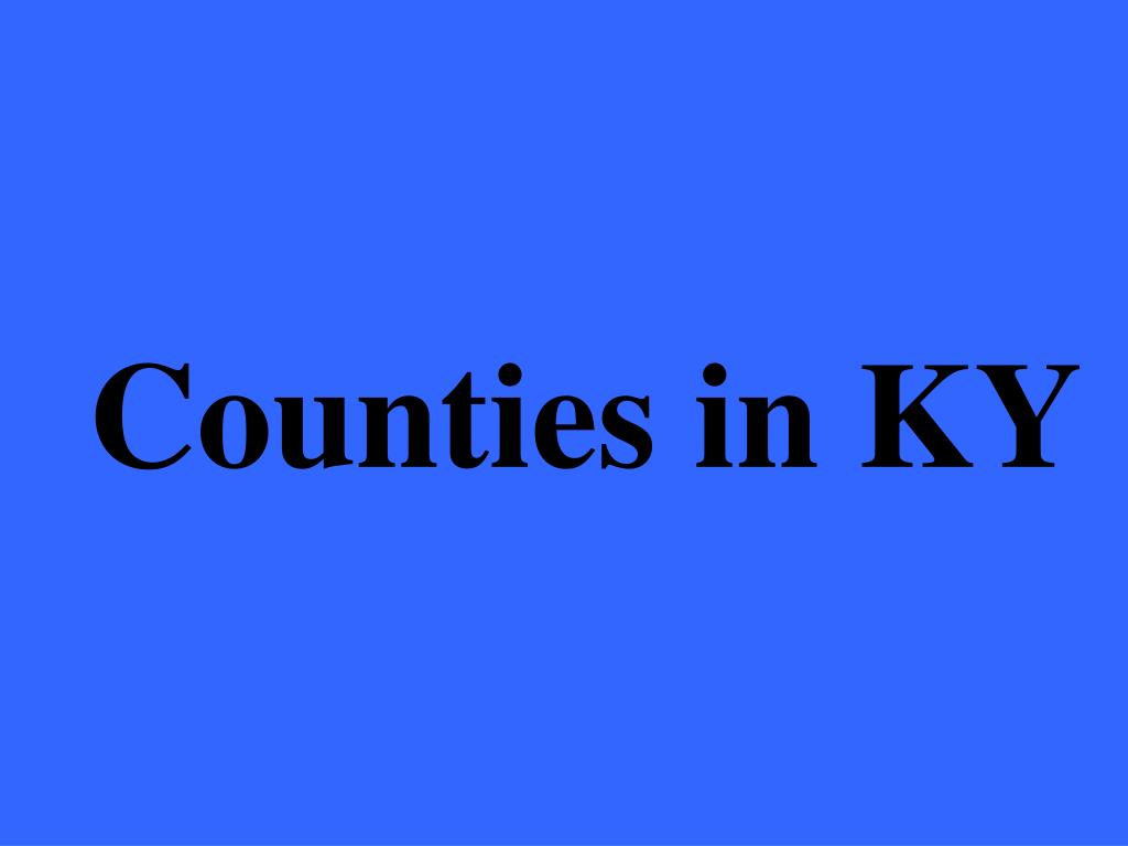 Counties in KY