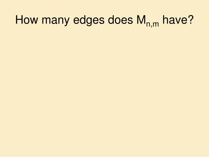 How many edges does M