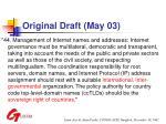 original draft may 03