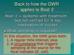 back to how the gwr applies to boat 2