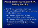 payson technology enables skc lifelong learning