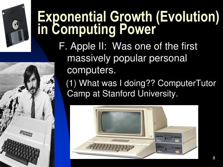 Exponential Growth (Evolution) in Computing Power