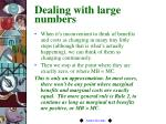 dealing with large numbers
