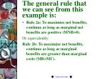 the general rule that we can see from this example is