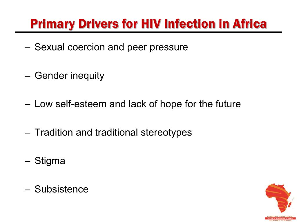 Primary Drivers for HIV Infection in Africa