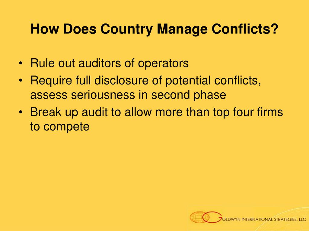 How Does Country Manage Conflicts?