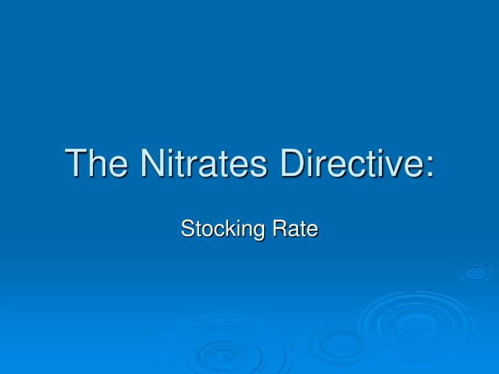 The nitrates directive2