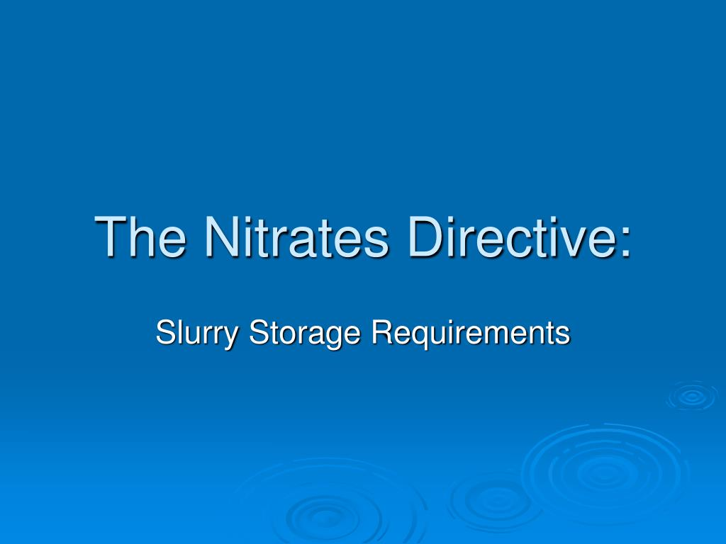 The Nitrates Directive: