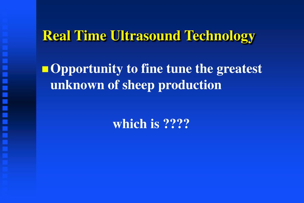 Real Time Ultrasound Technology