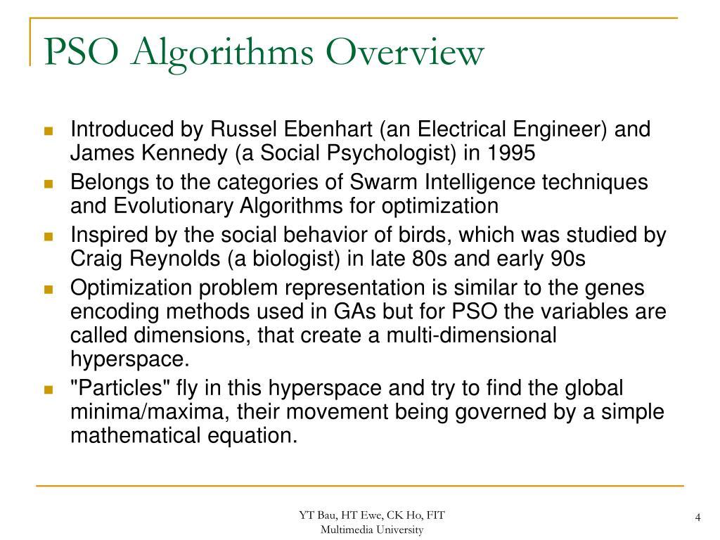 PSO Algorithms Overview