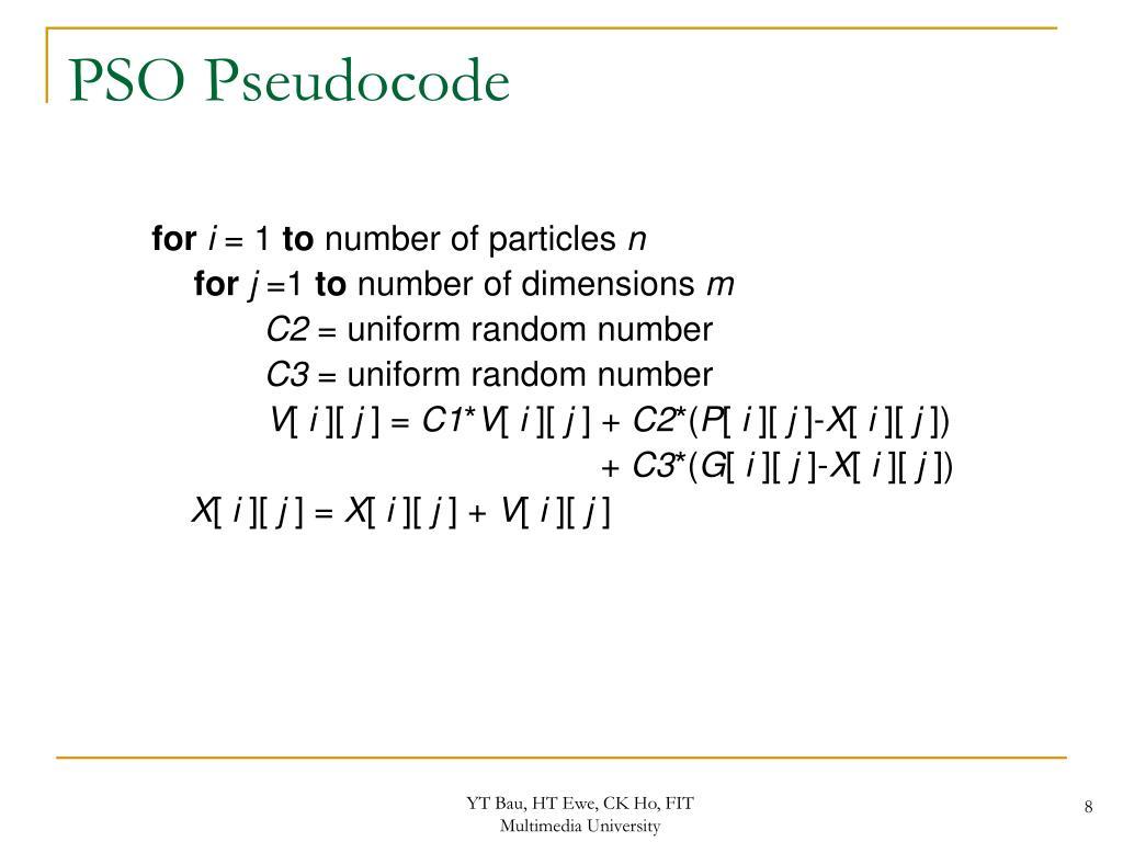 PSO Pseudocode
