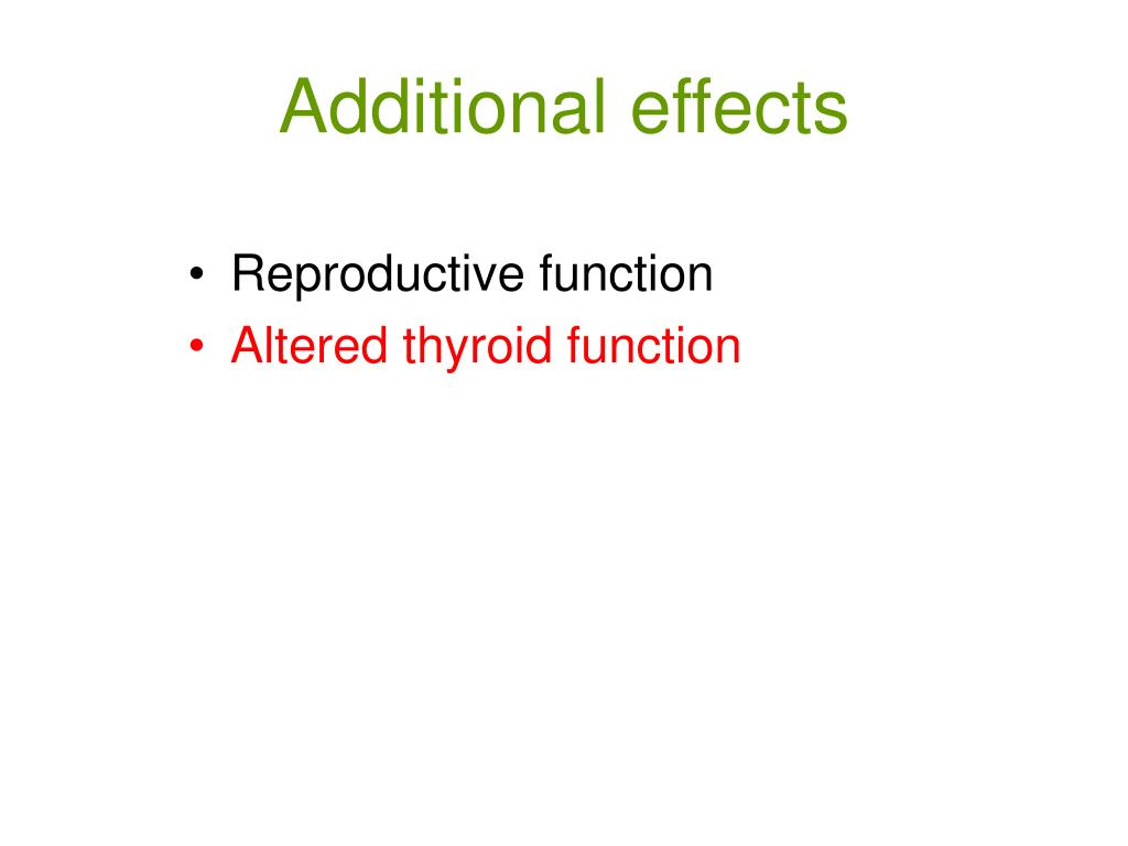 Additional effects
