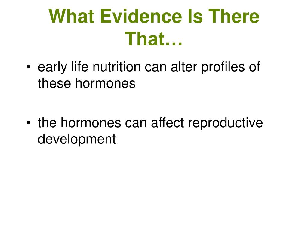What Evidence Is There That…