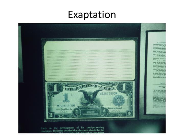 Exaptation