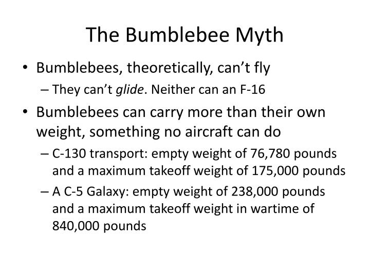 The Bumblebee Myth