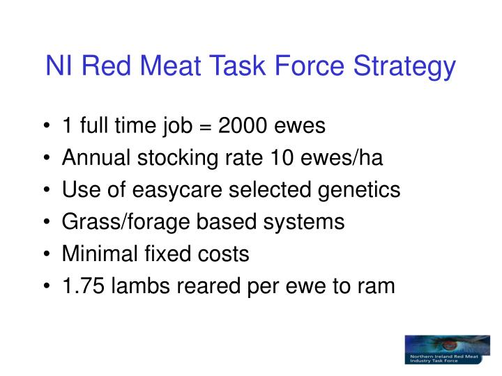 Ni red meat task force strategy