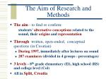 the aim of research and methods