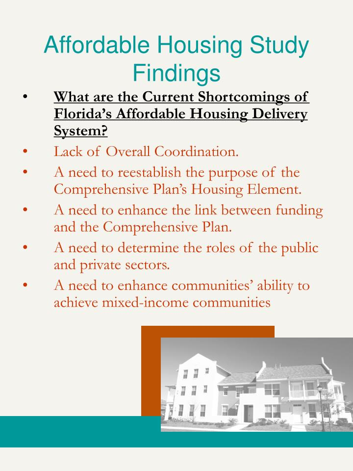 Affordable Housing Study Findings