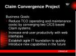 claim convergence project