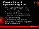 jca the future of application integration