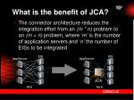 what is the benefit of jca
