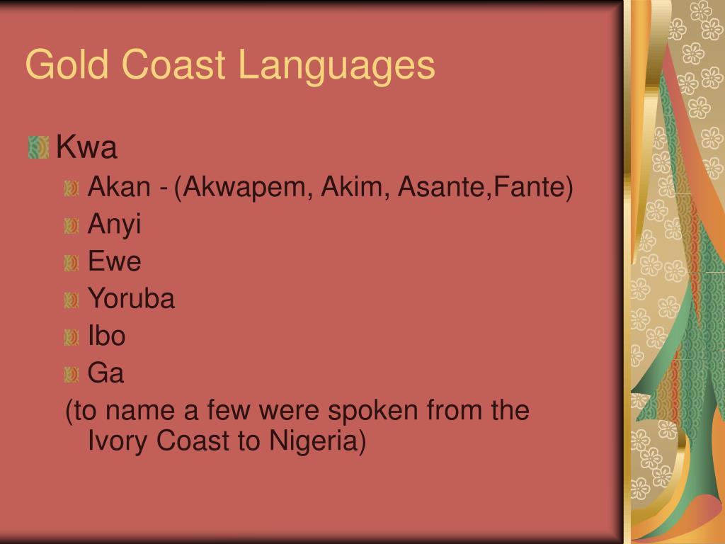 Gold Coast Languages