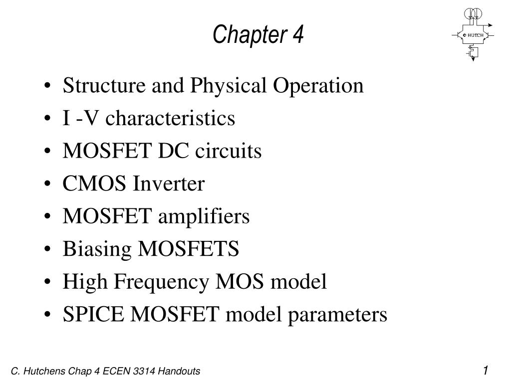 Ppt Chapter 4 Powerpoint Presentation Id1154267 Mosfet Amplifier Circuits N