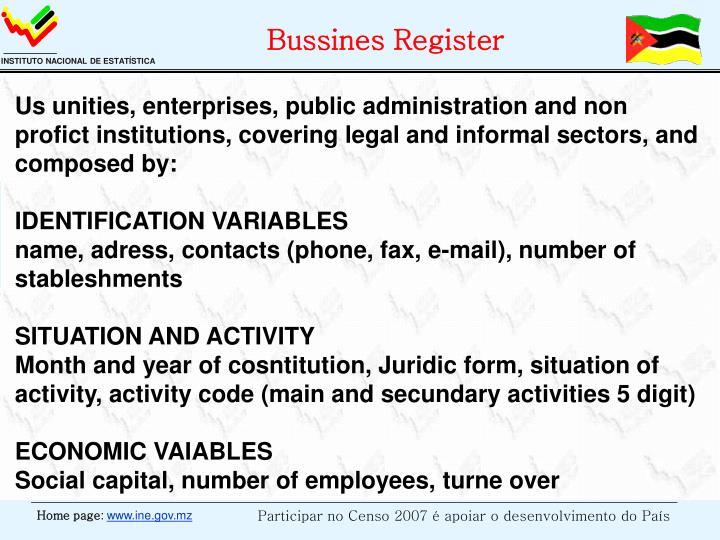 Bussines Register
