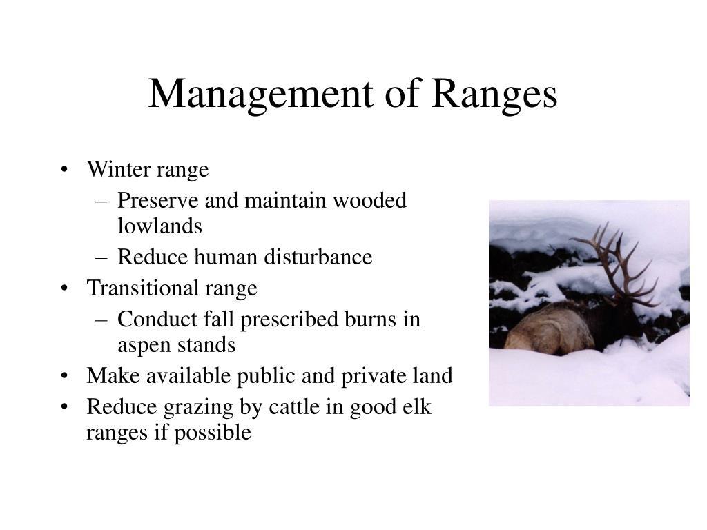 Management of Ranges