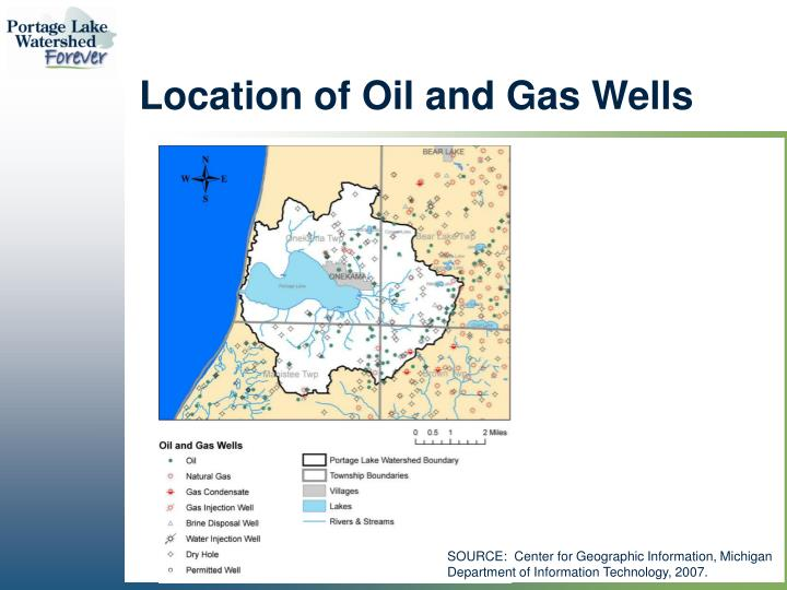 Location of Oil and Gas Wells