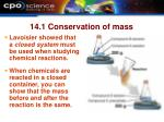 14 1 conservation of mass