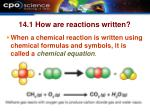 14 1 how are reactions written
