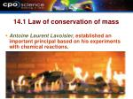 14 1 law of conservation of mass