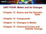 unit four matter and its changes