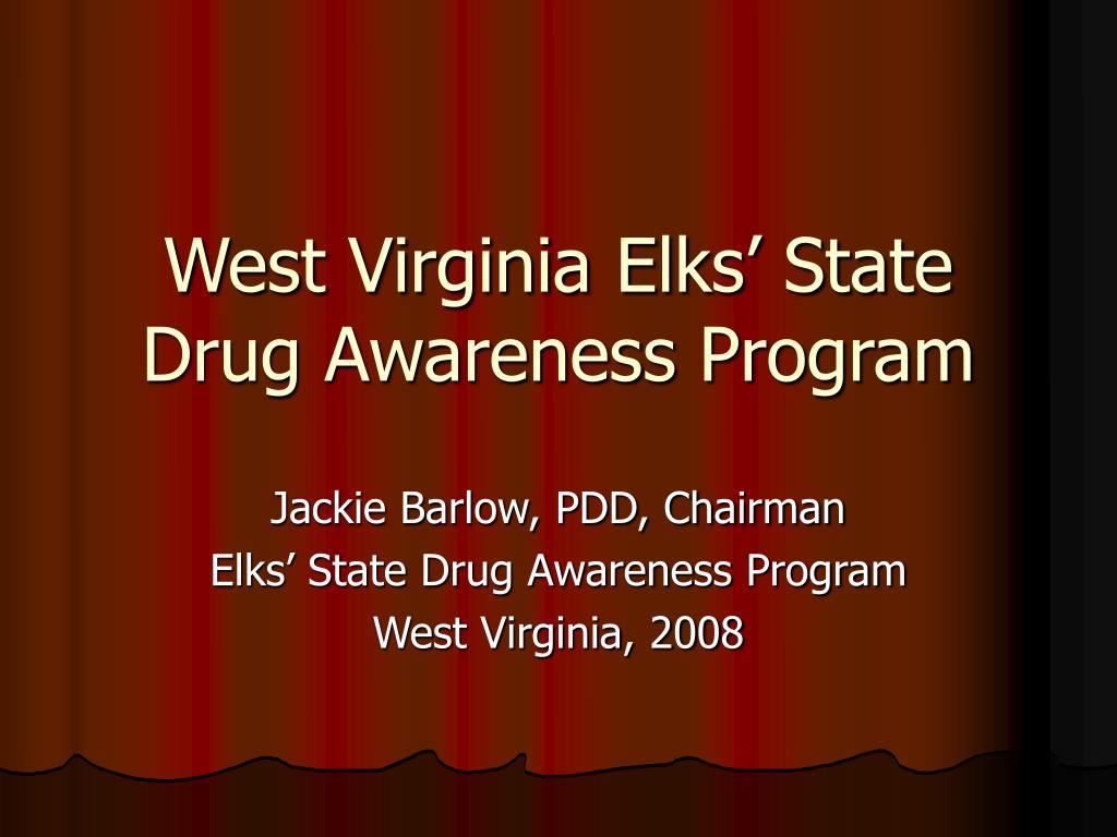 west virginia elks state drug awareness program l.