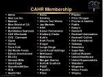 cahr membership