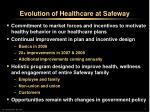 evolution of healthcare at safeway