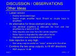 discussion observations other ideas