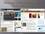 news and specialty sites cash in on celebrity death