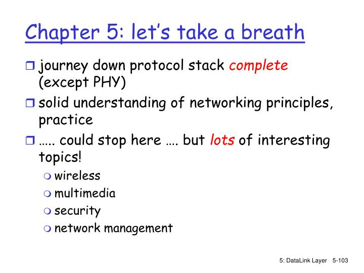 journey down protocol stack
