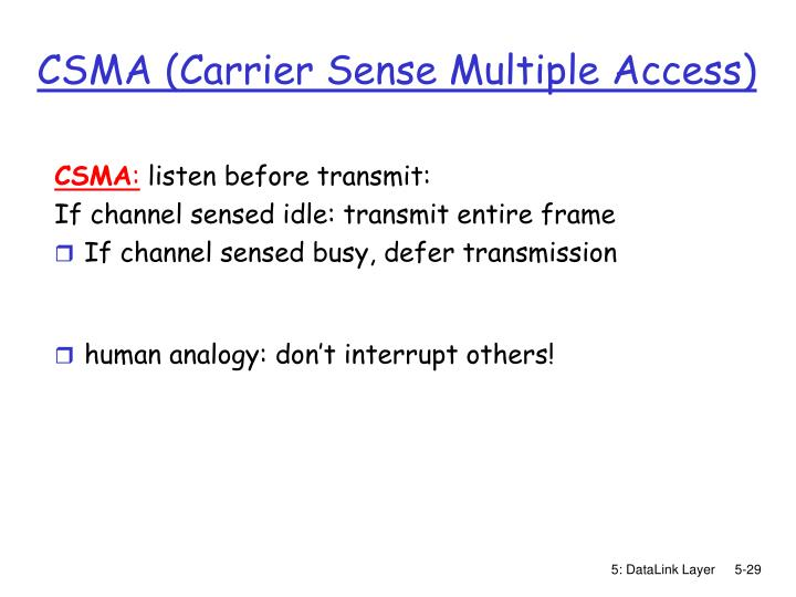 CSMA (Carrier Sense Multiple Access)