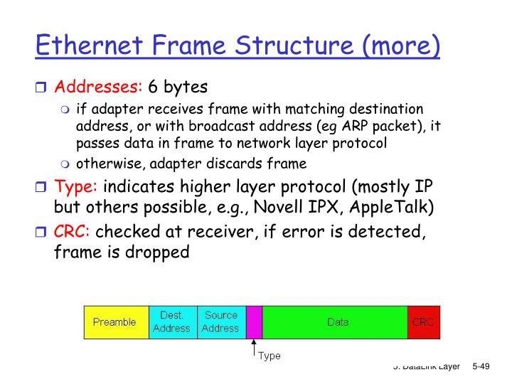 Ethernet Frame Structure (more)