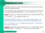 reed muller codes