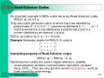 reed solomon codes