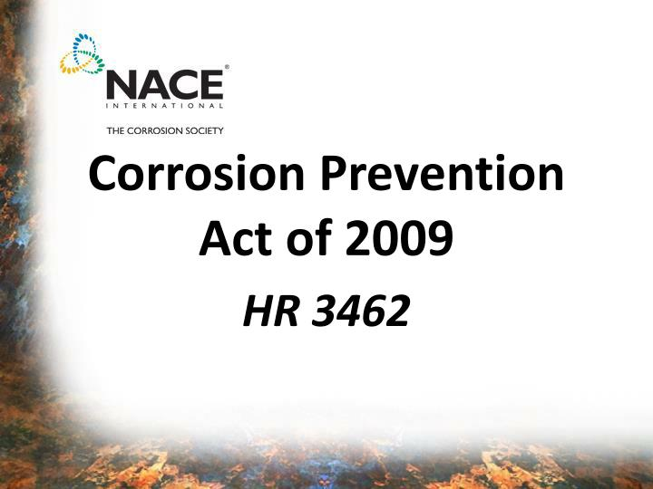 corrosion prevention act of 2009 n.