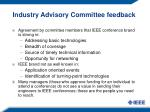 industry advisory committee feedback