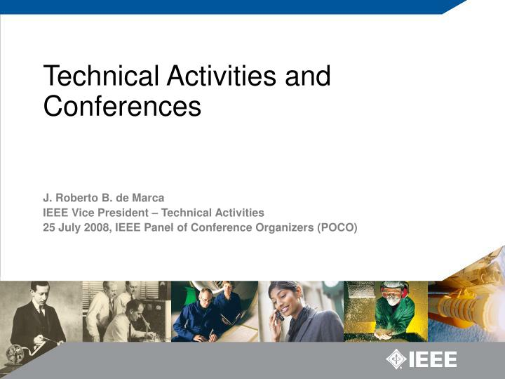 technical activities and conferences n.