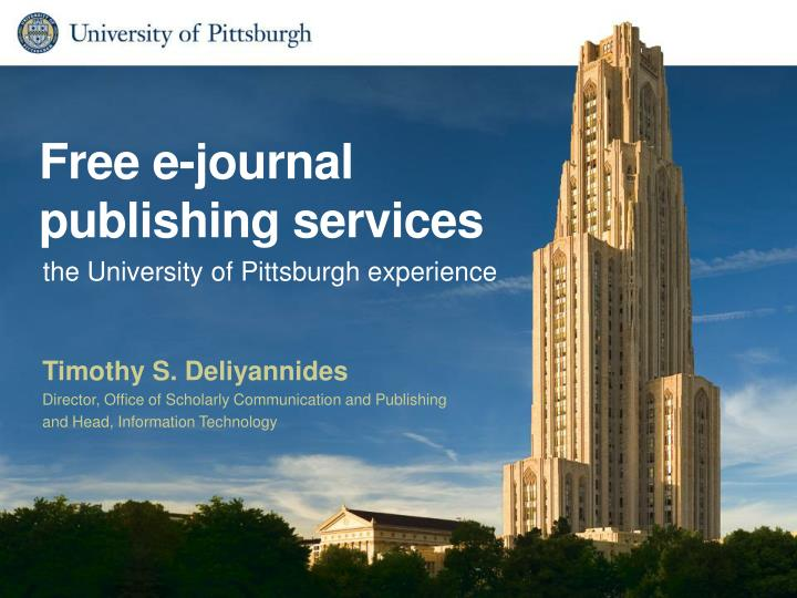 free e journal publishing services n.