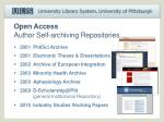 open access author self archiving repositories