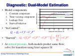 diagnostic dual model e stimation